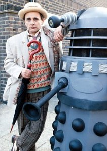 "Actor Sylvester McCoy in BBC1's television programme ""Doctor Who"